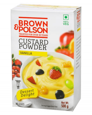 BROWN & POLSON CUSTARD POWER VANILA 500GM