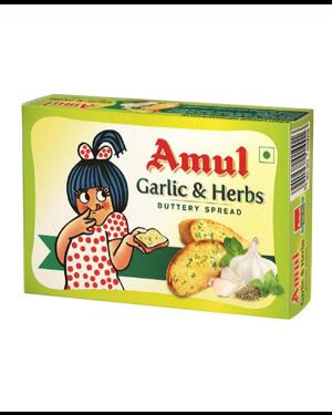 AMUL BUTTER GARLIC & HERBS 100 GMS