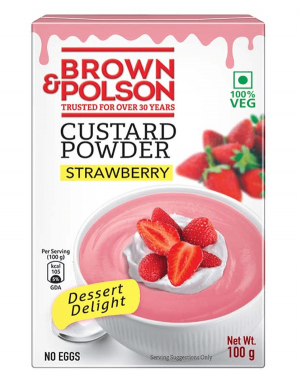 BROWN & POLSON CUSTARD POWDER STRAWBERRY