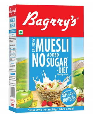 BAGRRY'S MUESLI NO ADDED SUGAR 500GM