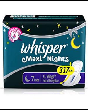 WHISPER MAXI NIGHTS 7PADS
