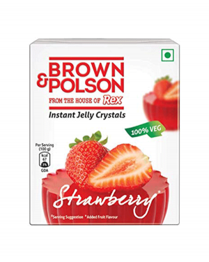 BROWN & POLSON STRAWBERRY JELL 85GM