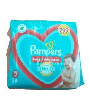 PAMPERS HAPPY SKIN PANTS M  24N