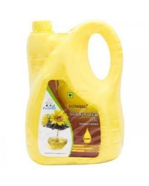 OIL : Patanjali Refined Oil - Sunflower, 5L