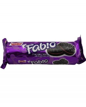 PARLE FAB CHOCLATE CREME SANDWICH BISCUIT 120 G