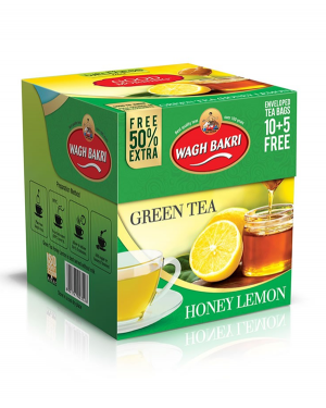 WAGH BAKRI GREEN TEA HONEY LEMON TEA BAGS