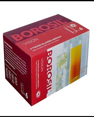 BOROSIL VISION GLASS MEDIUM 6Pcs-295Ml