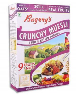 BAGRRY'S FRUIT & NUT CRANBERRIES 500GM