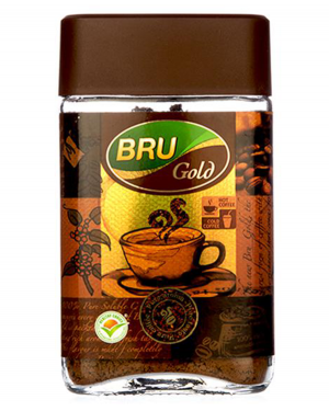 BRU GOLD COFFEE GLASS JAR