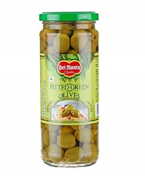 DEL MONTE PITTED GREEN OLIVES 235 G