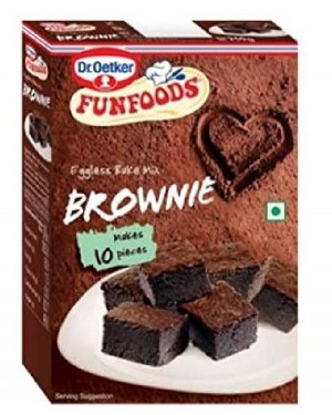 FUNFOODS EGGLESS BROWNIE MIX 10 PIECES