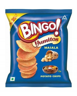 BINGO YUMITOS MASALA CHIPS 52 gm