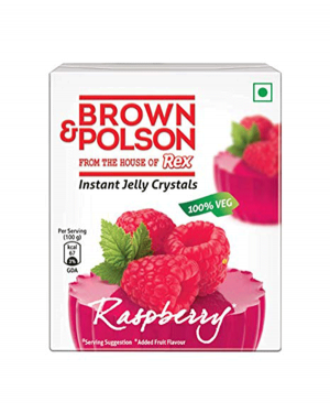 BROWN & POLSON RASPBERRY JELLY 85GM