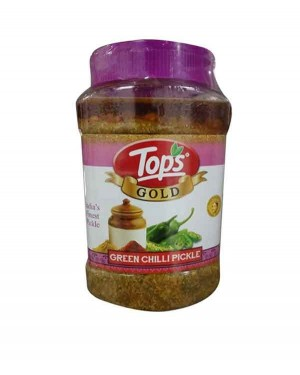 TOPS GOLD GREEN CHILLI PICKLE 1 KG